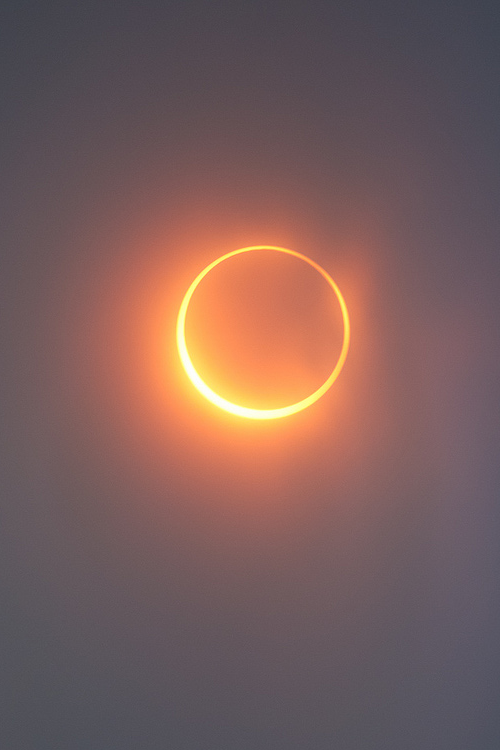 Eclipse (by Simon Christen) In alignment with the Sun and the Moon. Annular eclipse 2012 shot from Mt. Shasta in California.