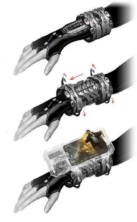 cyberpunk art by unknown wristwatch neon noir cybernoir technofile technology techjunkie smart device science fiction