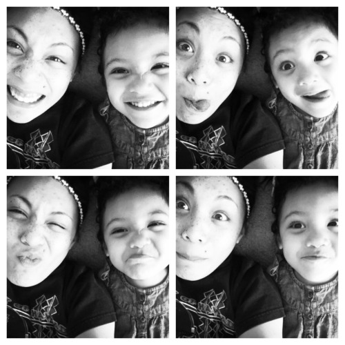 Me n my 3 yr old princess (shes black white and asian <3 )