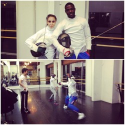 thisisinmyhead:  What our dates look like…last night's fencing with @becjefferson