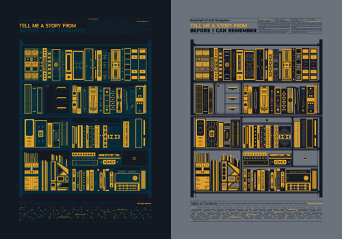 A  silkscreen poster dedicated to the space, where our favourite stories are kept safe. A 70cm x 100cm / 27.5inch x 39.4inch silkscreen print with 2 colors on 10 main color combinations and screen printed on a variety of papers and materials. Many limited editions / All Signed and numbered by the artists.  Designed by Keik Bureau and printed by Tind Silkscreen