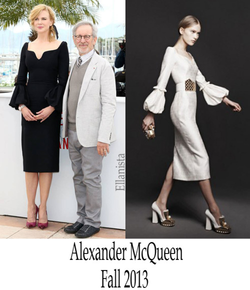 Cannes Film Festival   Nicole Kidman in an Alexander McQueen black dress with pleated sleeves to the jury members Photocall.