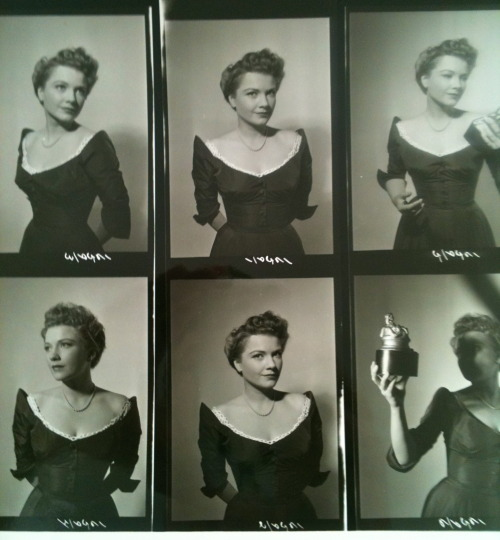 Anne Baxter contact sheet for All About Eve