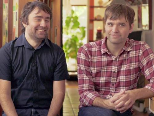 Watch Dntel's Jimmy Tamborello and Death Cab for Cutie's Ben Gibbard reflect on ten years of The Postal Service's Give Up, which emerged from a casual collaboration.