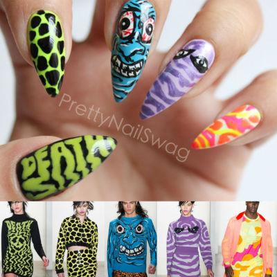 prettynailswag:  Inspiration from the Jeremy Scott 2013 Fall/Winter Collection..he kills it everytime