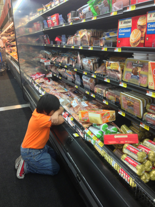 punkghost:  My brother just gave up at the sausage section  I could not in a million years explain why this is funny. But believe me. It is.