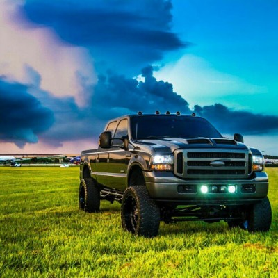 So. Sexy. #Powerstroke #FordPower #Diesel #DieselPower #Ford #Sky #Grass #Planes #Field #Farmland