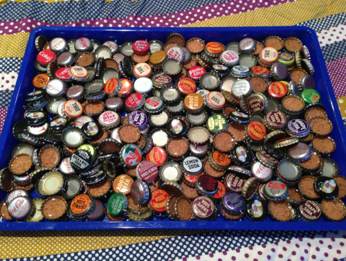 danicashmanica:  Project for Awesome bottle cap necklace claimers: One of these is yours! This week is going to contain a crazy amount of casting.