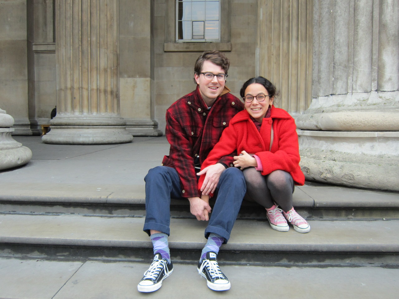 Alex Detrick and Cleo Le-Tan at the British Museum.
