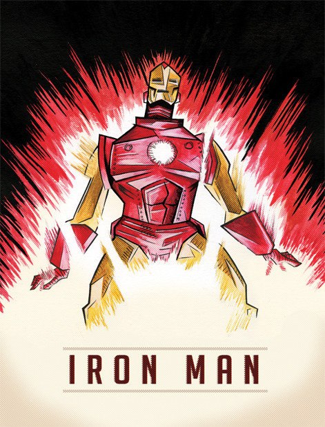 Iron Man. (via Mitchell MacNaughton Illustration and Design)