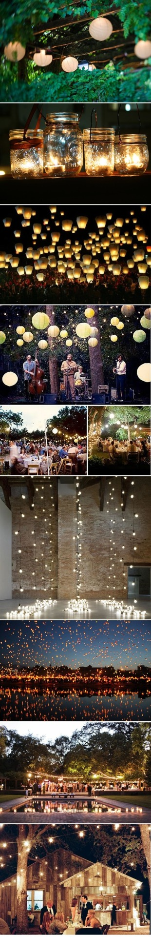 vintagestilettobrides:  Light inspiration for your wedding, reception or party! I LOVE lanterns and fairy lights! See more beautiful events inspiration at vsb!