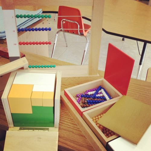 New materials for your Montessori classroom makes teachers act like children in a candy store. #montessorimaterials #motessori #snakegame #beadframe #poweroftwo