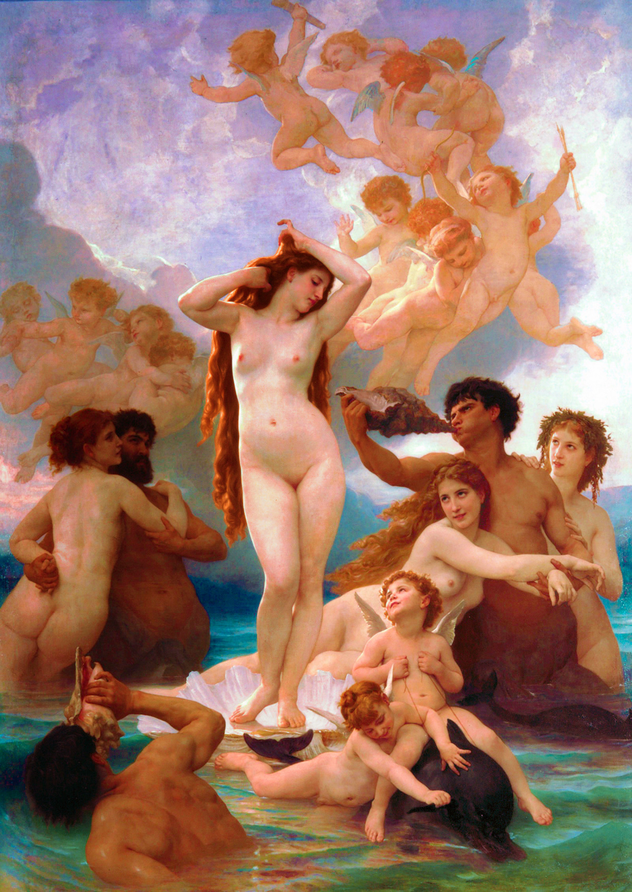 The Birth of Venus (1879) William-Adolphe Bouguereau