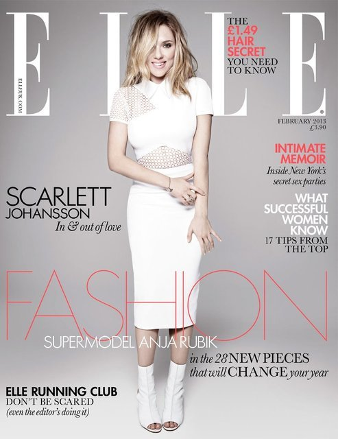 UK Elle February 2013 : Scarlett Johansson by Rankin