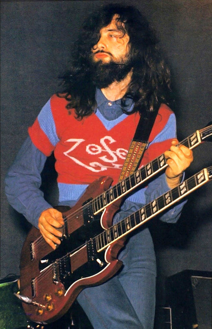 Jimmy Page Zoso Sweater Doubleneck Guitar Duckface