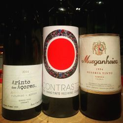 3 very different wines all equally delicious. Fresh and from the island. Modern and pure Douro. Aged and full of character and mystery. Don't tell me Portugal is just one style of wine. We are the mosaic that all true wine lovers seek. #portugal #travel #wine http://ift.tt/1SJtPOM