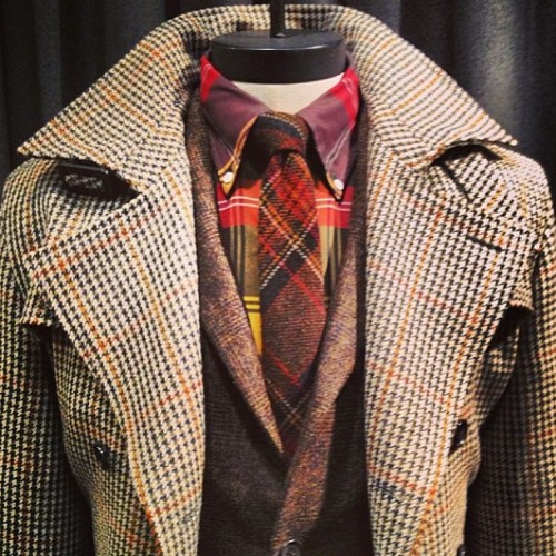 GQ's @mattyseebs captures a master class in plaid layering from @BrooksBrothers Fall 2013 #nyfw #mbfw