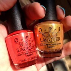 OPI Euro Centrale - My Paprika is Hotter Than Yours and Oy - Not Another Polish Joke. #opi #nails