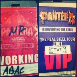 "Working passes for Pantera ""Reinventing The Steel"" tour with Nothingface in 2001. #pantera #ripdime"