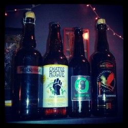 Delicious #beer time from @vintnerny #unibroue #ommegang #rogue #nogne  (at Vintner Wine Market)