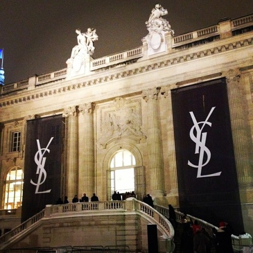 What will @YSL Saint Laurent menswear by Hedi Slimane look like. Stay tuned to BoF for live updates. (at Grand Palais)