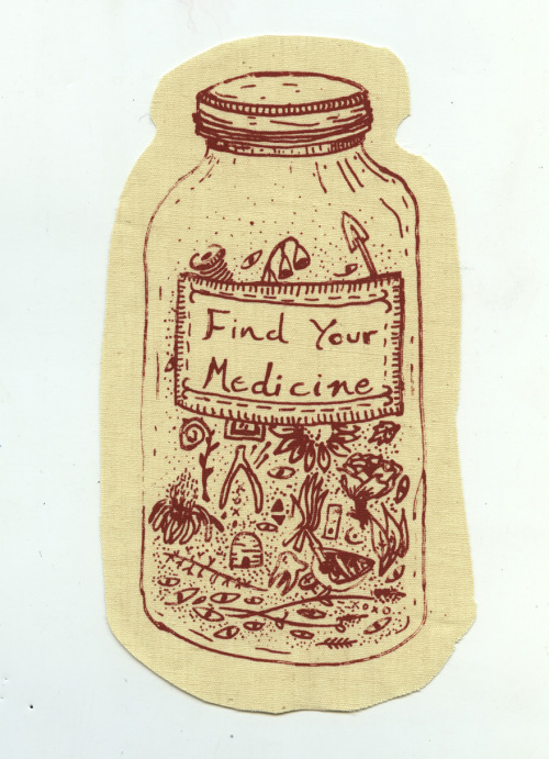 noellelonghaul:   Find Your Medicine. Another patch in the series from Bright Hollow Medicine.