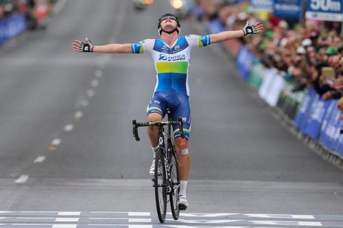 Luke Durbridge takes an astounding victory in the Australian Road Race Championships having won the TT title earlier in the week. Congratulations to Luke and the entire Orica GreenEdge team. (via Timeline Photos)