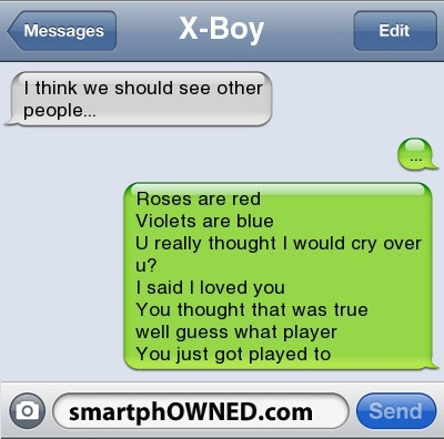 Breaking up via text is the worst. You have to see these breakup texts. #1 is so bad! - ad http://bit.ly/146wAnF