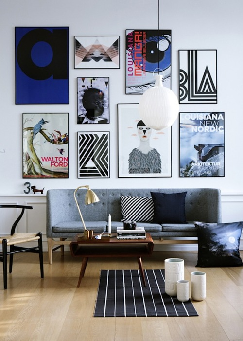 musesofdesign:  (via French By Design: Mix : The art of displaying art)