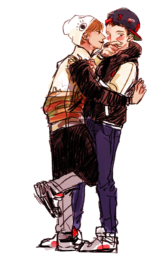 keuroket:  because ang was disappointed at lack of chankai so she draws it herself I mean, maybe a kaiyeol!HS??? AU??
