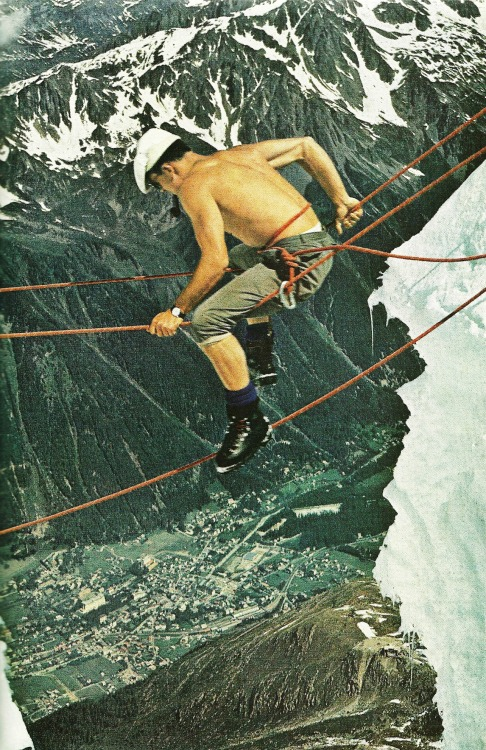 vintagenatgeographic:  Mountain climber on Mont Blanc, France National Geographic | September 1965