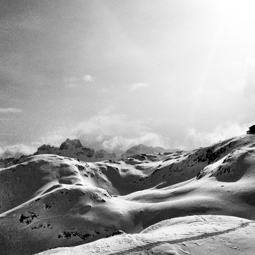 #dolomiti #superski #bw #snow #mountains #sun