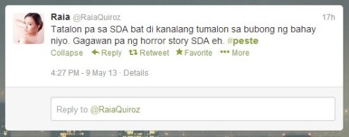 Yung totoo? HOW INSENSITIVE CAN YOU GET?! Mas papairalin mo ang pagkakaroon ng Horror story sa school mo rather than praying for the soul of your schoolmate? Wow ah, wow. How insensitive can you get?!