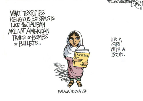 What scares the Taliban(via Bagley cartoon: What scares the Taliban | The Salt Lake Tribune)