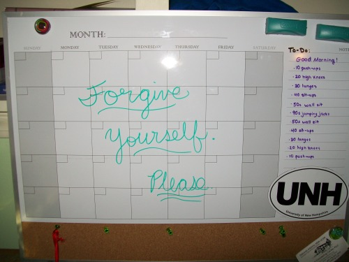New Years Resolution: To forgive myself. I am my own biggest critic and my own worst enemy. This year I'm going to work really hard on forgiving myself for my own supposed short-comings so that I can get on with my life and make some progress.