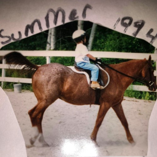 ponies-in-the-house-personal:  Finally found a picture of the first Horse I rode!! `94