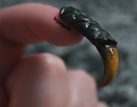 Something weird and fun I made last night - A dragon's claw nail :)I might incorporate this as part of a new set but thought I'd share it today because I'm not sure what to do with it yet. Maybe a Game of Thrones/Daenerys Targaryen theme? I'll see :) xx