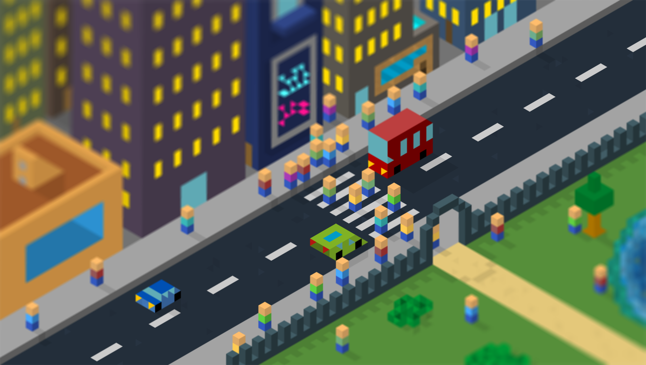 "This isometric city is so good! ""Tilt-shift effect with hexel ! @Ttstreet"""