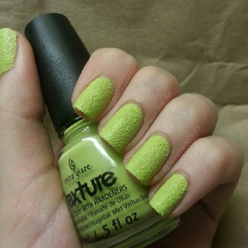 China Glaze - In the Rough ☆ (2 coats/no topcoat) #chinaglaze #texturepolish
