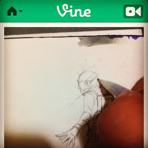 Check me out on vine #drawings #vine #yohanthespaceman