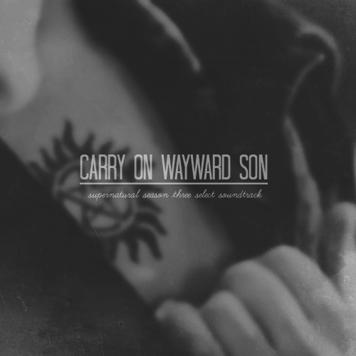 allbatross:  carry on wayward son. a selection of songs from the third season of supernatural.  01. hells bells - ac/dc | 02. run through the jungle - creedence clearwater revival | 03. wanted dead or alive - bon jovi | 04. long train runnin' - the doobie brothers | 05. you ain't seen nothing yet - bachman-turner overdrive | 06. we're an american band - grand funk railroad | 07. heat of the moment - asia | 08. back in time - huey lewis & the news | 09. it's my party - lesley gore || listen