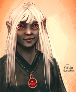 kpelto:  speedpaint/sketchbook : Lia by ~kpelto-illustration I colored a sketchbook piece I made for my boyfriend, coz Lia is his character. :] :: pencil, photoshop ::