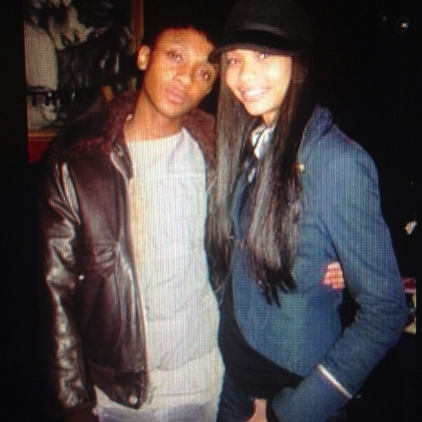 #tbt : Me & my old friend #ChanelIman when we were younger before she became a #Supermodel.  Life is so crazy who time flies. #fashion #funny #ig #igers #vintage #beauty #nomakeup #jeromeandchaneliman #iphoto #time #friends #throwback #oldschool #memories #cute #cutie #goodlooks #sexy #fly #dope #fablane #vogue #thursday
