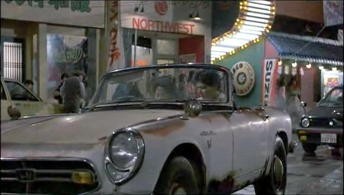 1966 Honda S800 Cabriolet used in Karate Kid P2. Check out other cool Honda cars used in movies and TV shows.