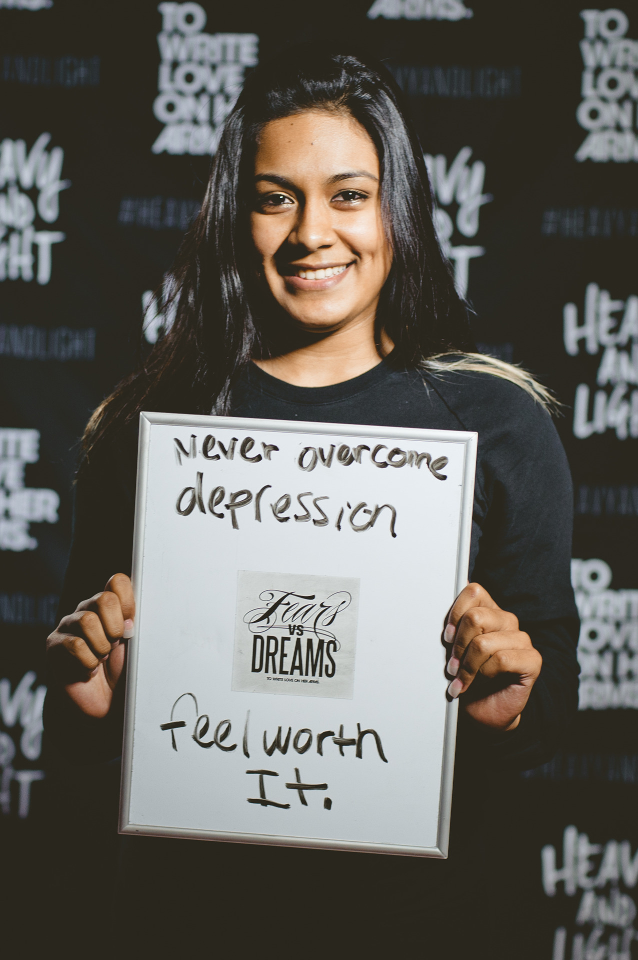 fearsvsdreams:  Fear: Never overcome depression. | Dream: Feel worth it.
