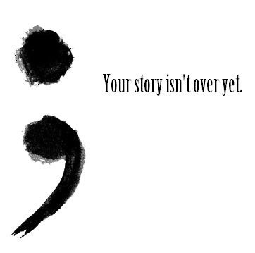 A semi colon is used when a sentence could have ended but it didn't..