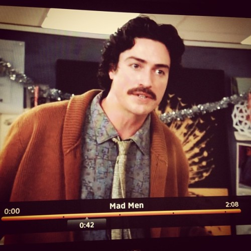 Re-watching last week's Mad Men and hoping for more of this mustache tonight.