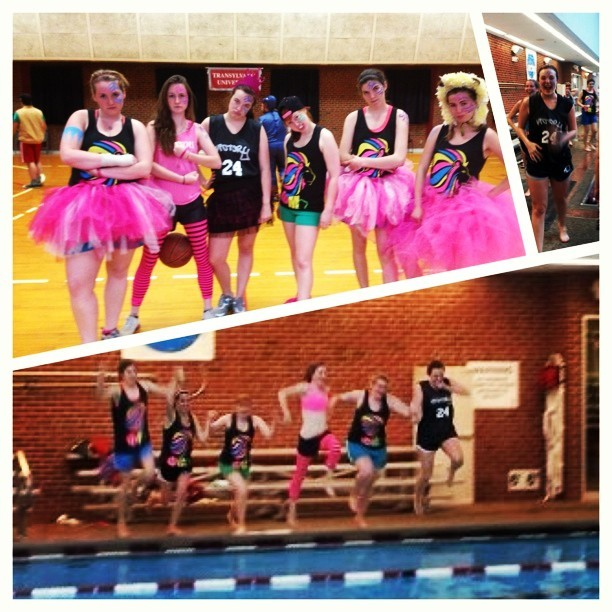WE WON! Then took a celebratory jump in the pool. #happy #phimulove #devastators #ballers  (at William T. Young Campus Center)