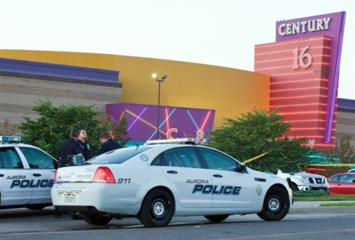 Aurora, Colo., theater opens to shooting victims and their families (Photo: Jonathan Castner / AFP - Getty Images file) The Aurora, Colo., theater where a gunman opened fire at movie-goers in a midnight premiere of a Batman movie, killing 12 and injuring 58, is open to victims and their families.  The theater was reopened on Tuesday and Wednesday for private visits, and on Thursday a grand opening ceremony and formal reopening is planned, local media reported.  Read the complete story.