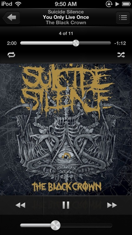 xxrawritssammy:  Seems like a suicide silence kind of day